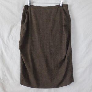 ESCADA designer skirt gathered jodhpur pencil 44 M